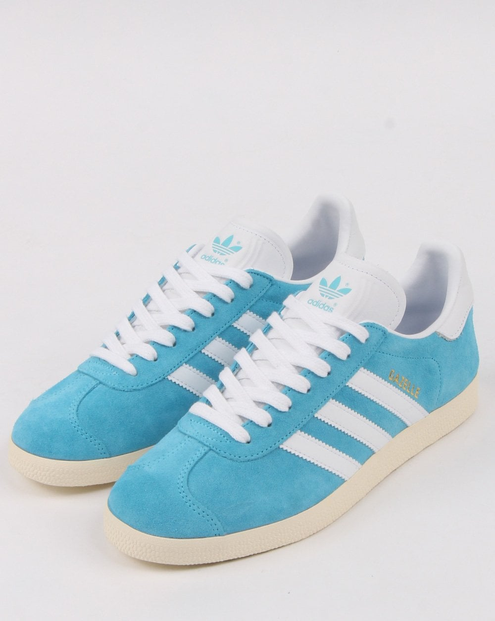 41206c123356 Adidas Gazelle Trainers Bright Cyan White