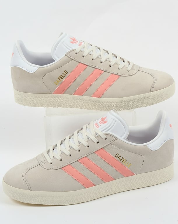 Adidas Gazelle Trainers Chalk White/Light Pink