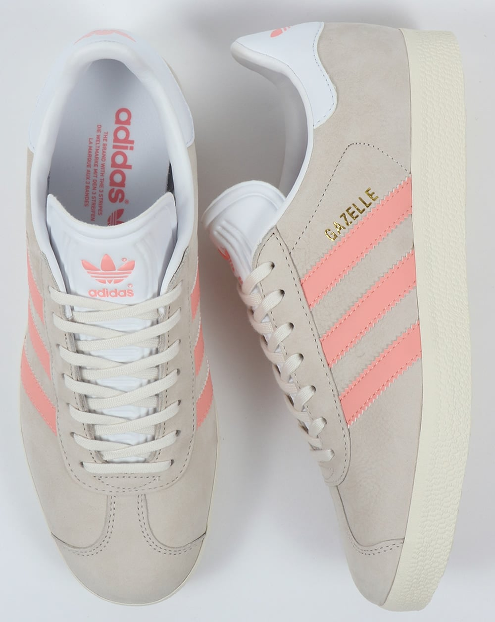 Pase para saber evidencia dolor de muelas  Adidas Gazelle Trainers Chalk White/Light  Pink,originals,shoes,womens,sneaker