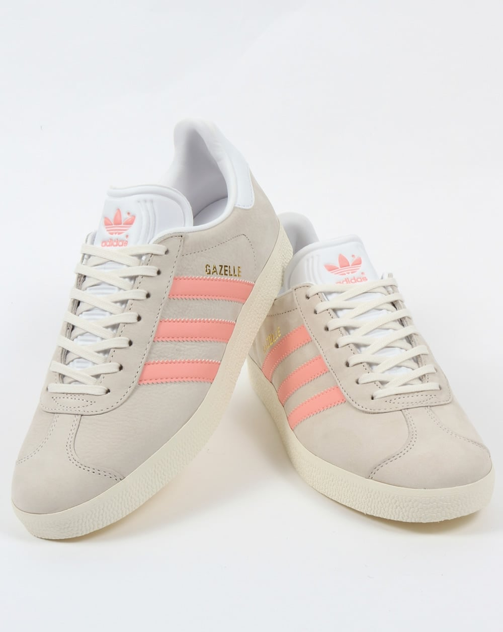 adidas gazelles women grey and pink