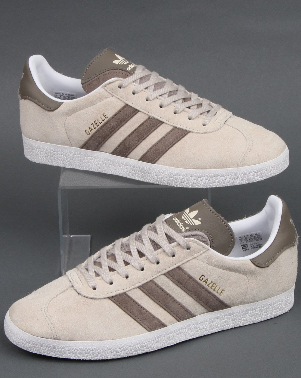 Sindicato es inutil acre  Adidas Gazelle Trainers Clear Brown - 80s Casual Classics