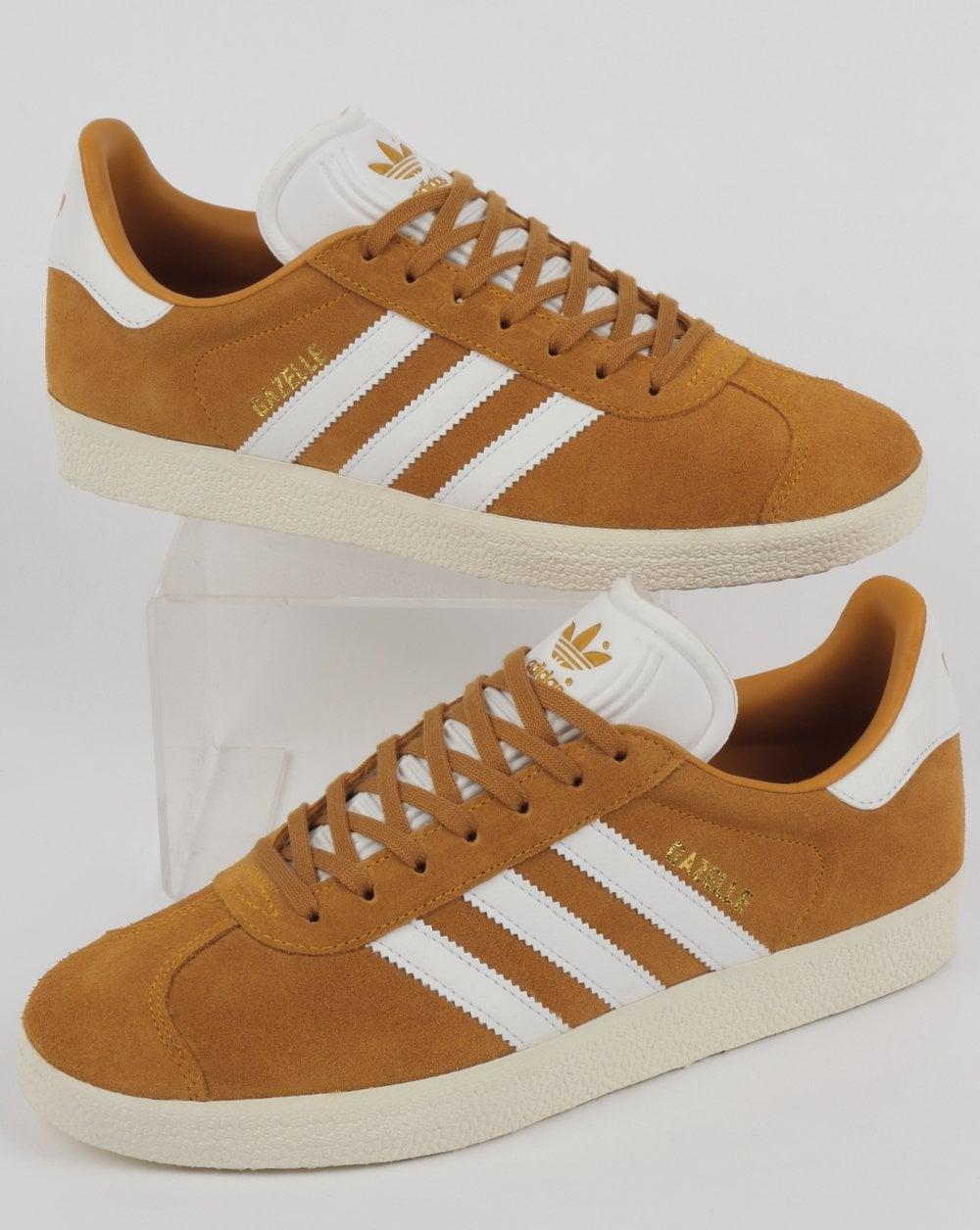 reputable site 42e2e f6615 adidas Trainers Adidas Gazelle Trainers Collegiate GoldWhite
