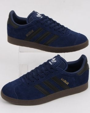 adidas Trainers Adidas Gazelle Trainers Dark Blue/black/gum