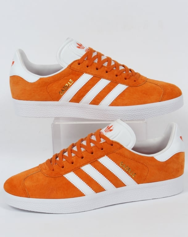 Adidas Gazelle Trainers Deep Orange/White