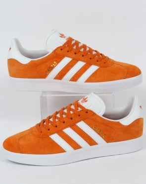 adidas Trainers Adidas Gazelle Trainers Deep Orange/White