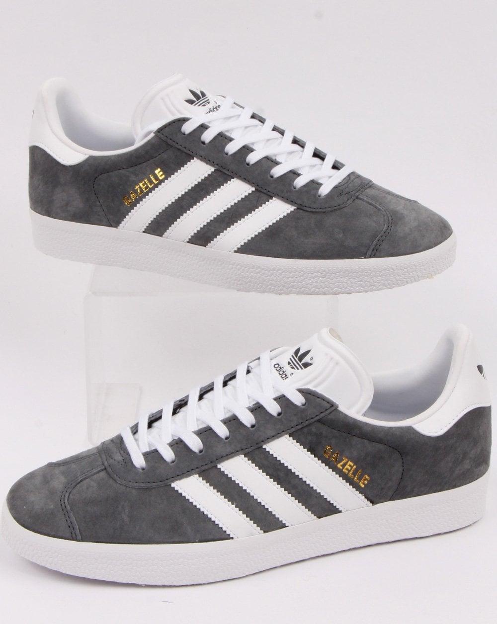 Adidas Gazelle Suede Trainers Dark Grey