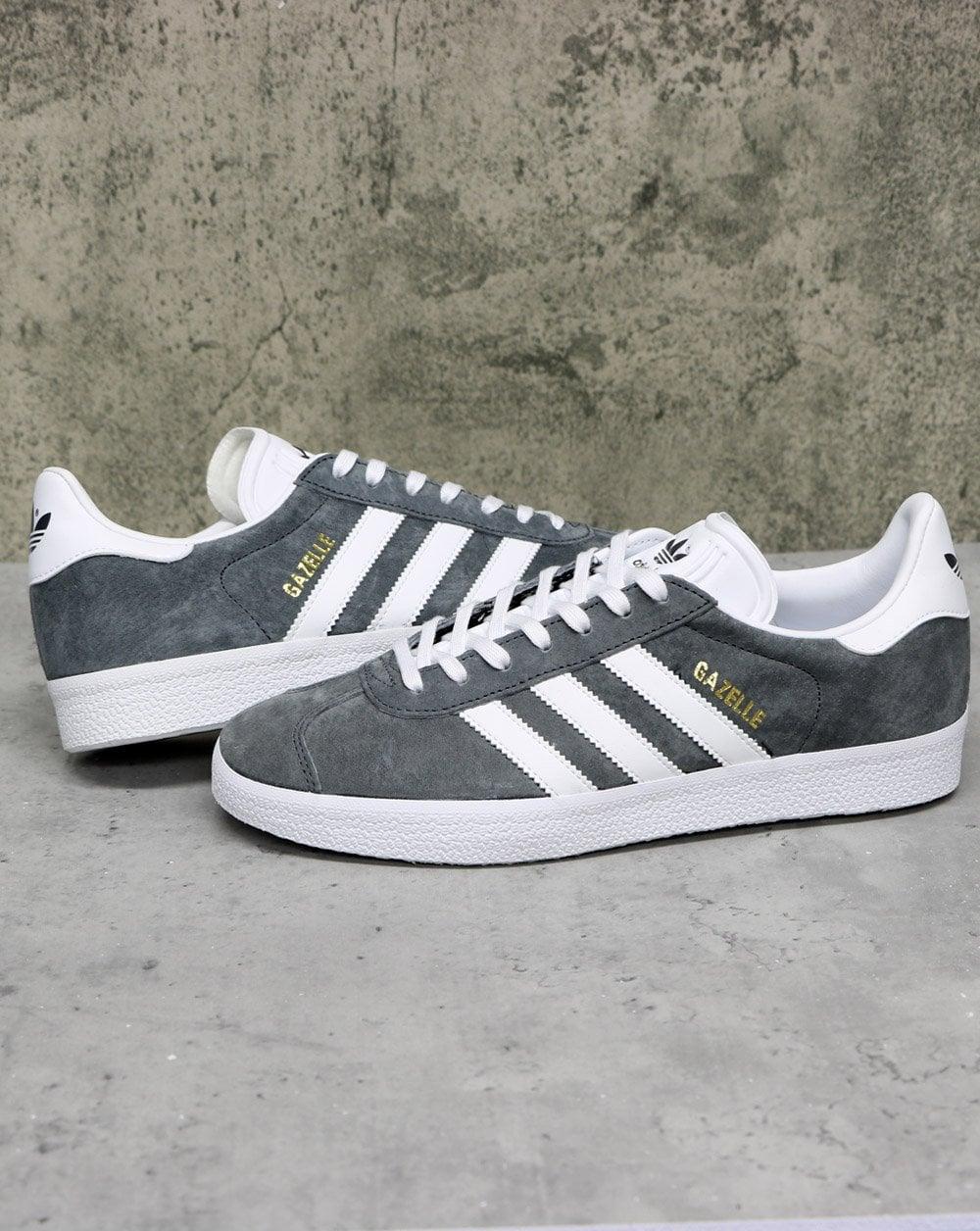Adidas Gazelle Trainers Dk Grey/White