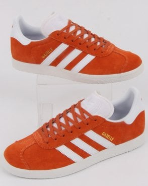4d9b55955b76 adidas Trainers Adidas Gazelle Trainers Easy Orange white