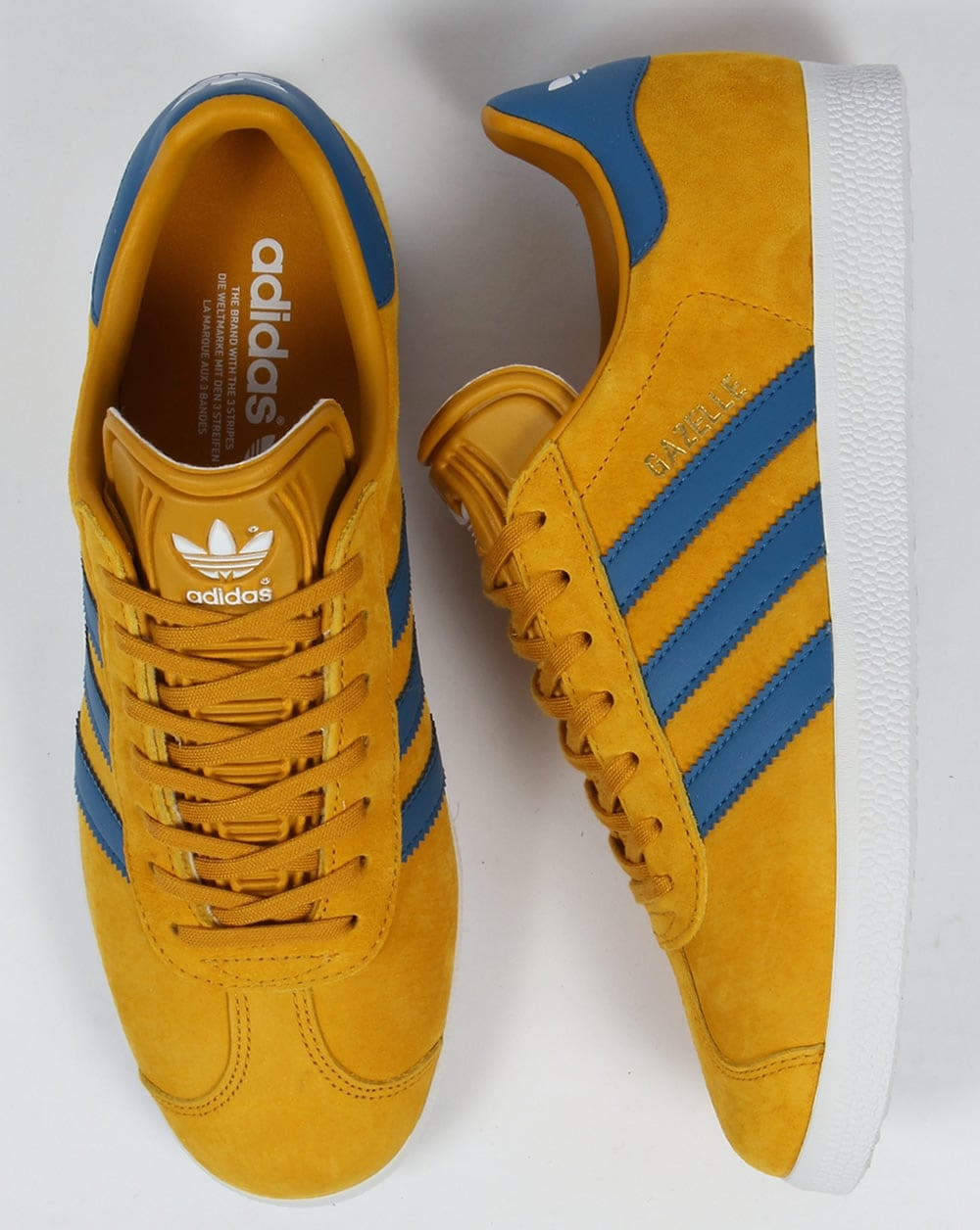 Adidas Gazelle Trainers Golden YellowBlue