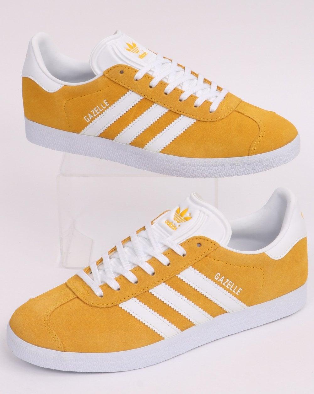 Adidas Gazelle Trainers Golden Yellow/White