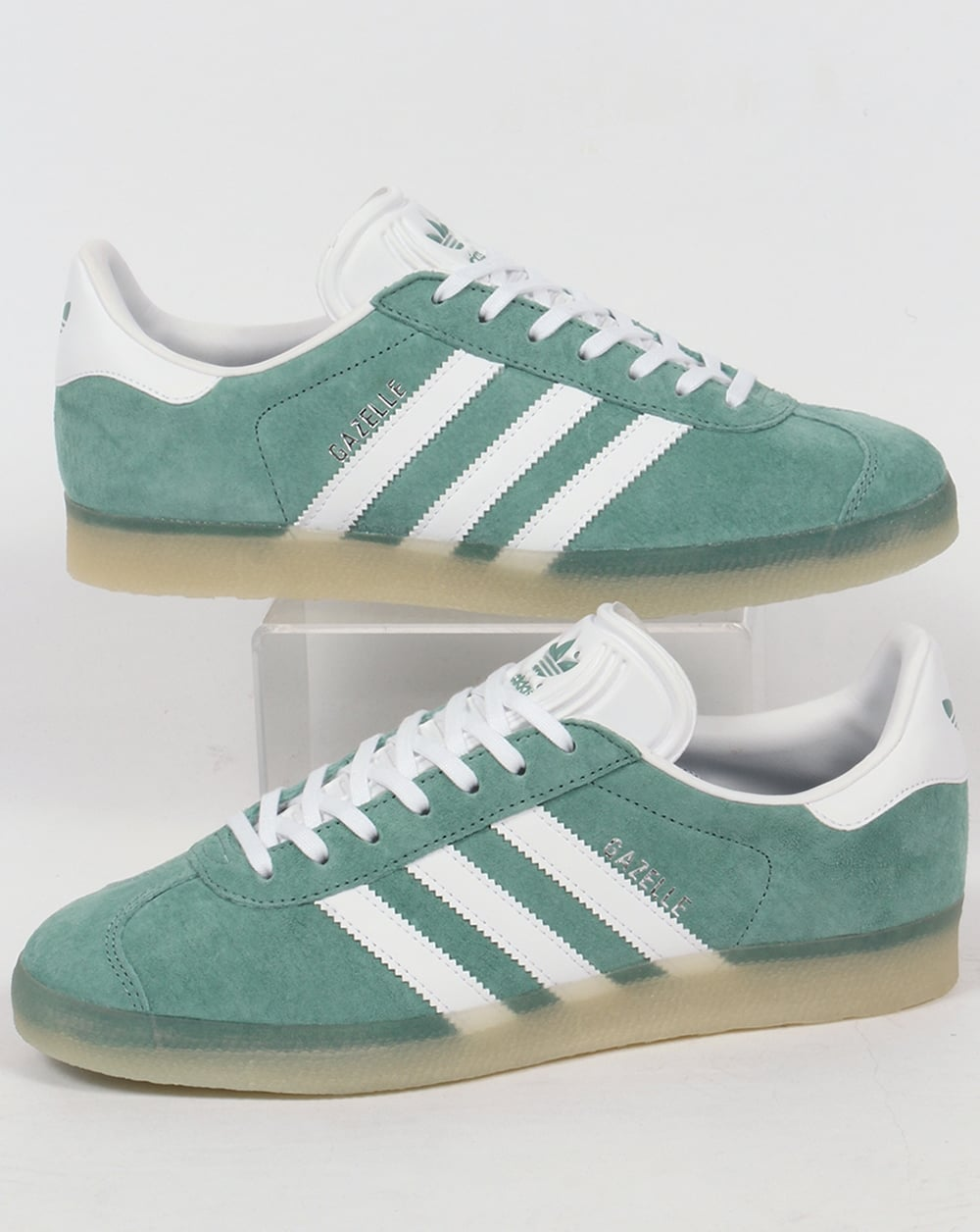 official photos 7e7e8 ad915 adidas Trainers Adidas Gazelle Trainers Green Steel Ice Gum