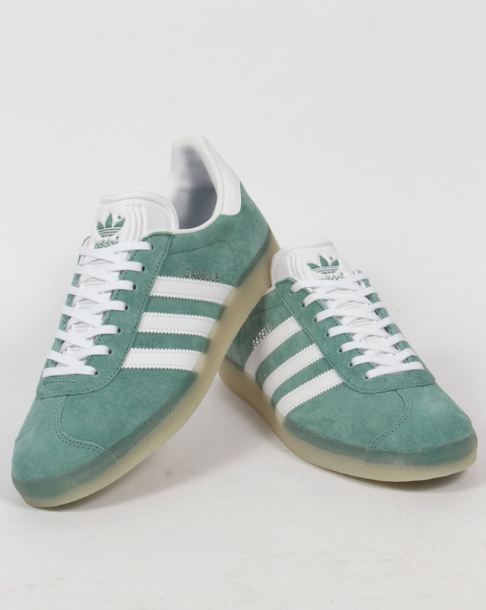 green and white gazelles