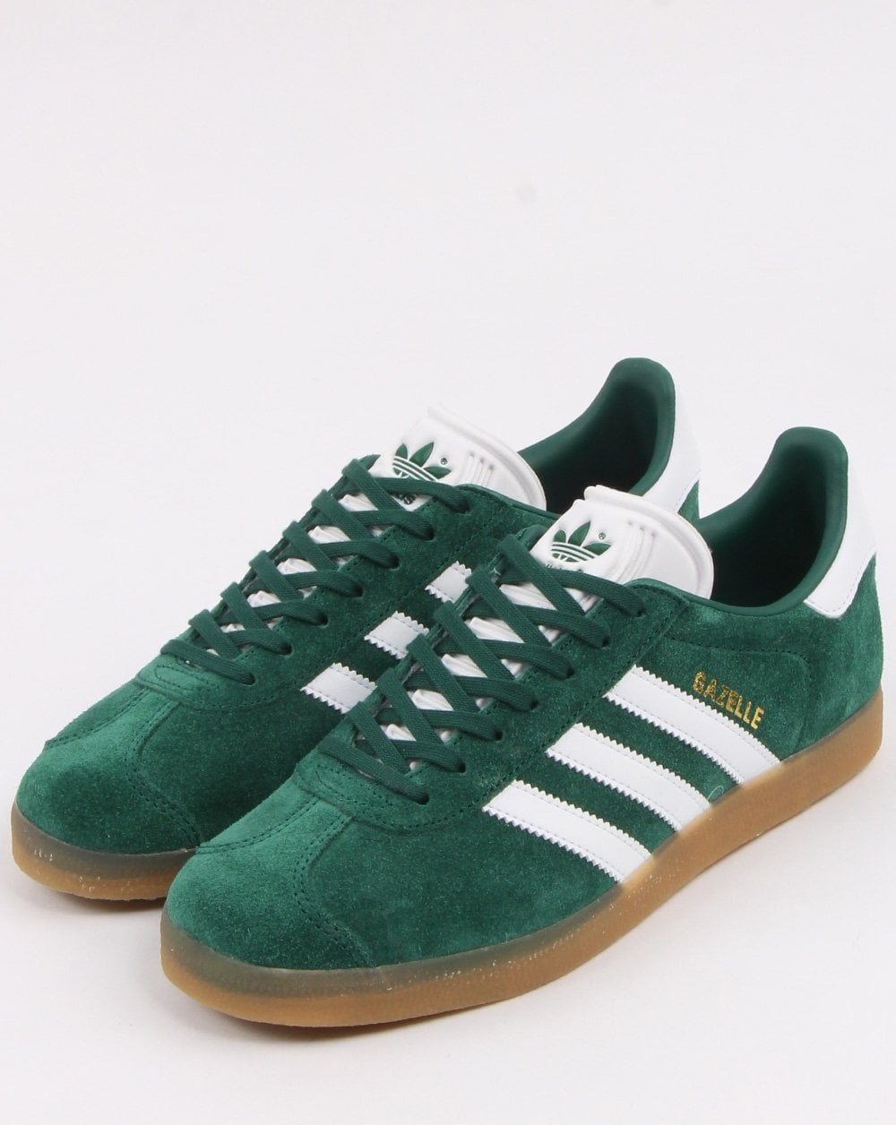 Adidas Gazelle Trainers Green/White/Gum