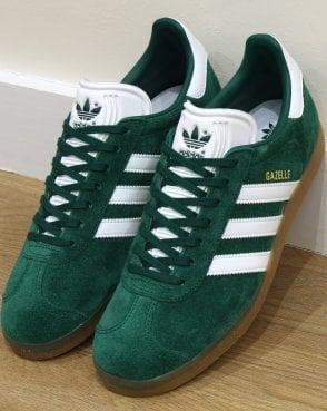 9b51c3ae3f adidas Trainers Adidas Gazelle Trainers Green White Gum