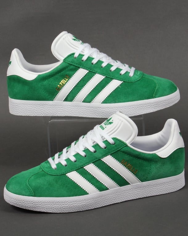 Adidas Gazelle Trainers GreenWhite