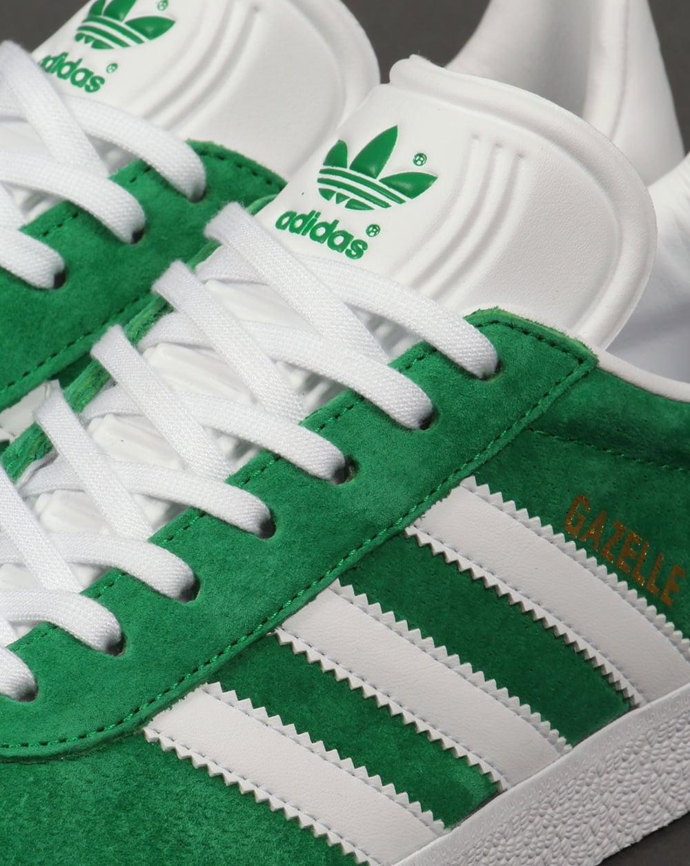 Adidas Gazelle Green And White