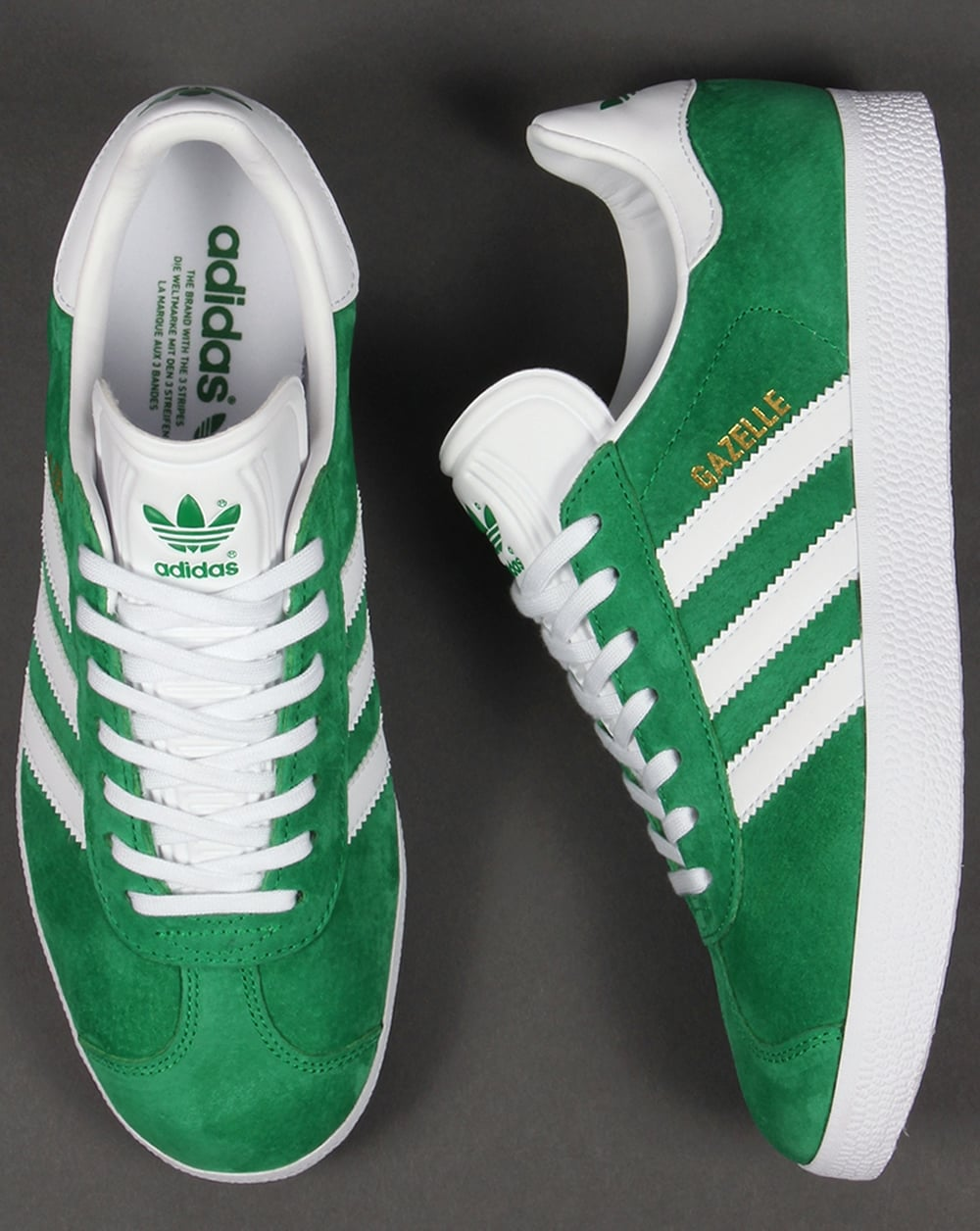 adidas gazelle 2 green white suede trainers adidas shoes for boys