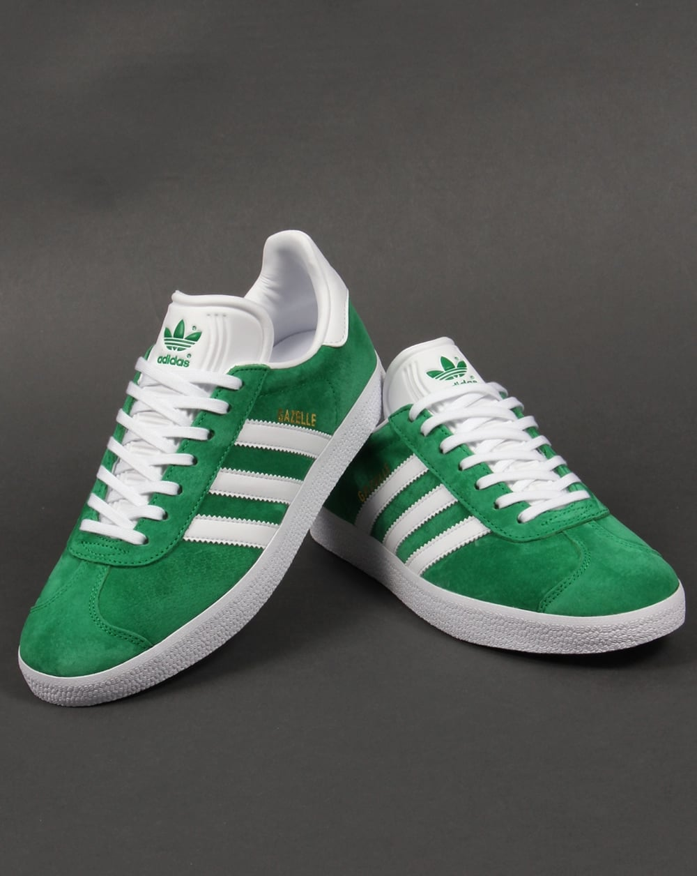 adidas mens green trainers