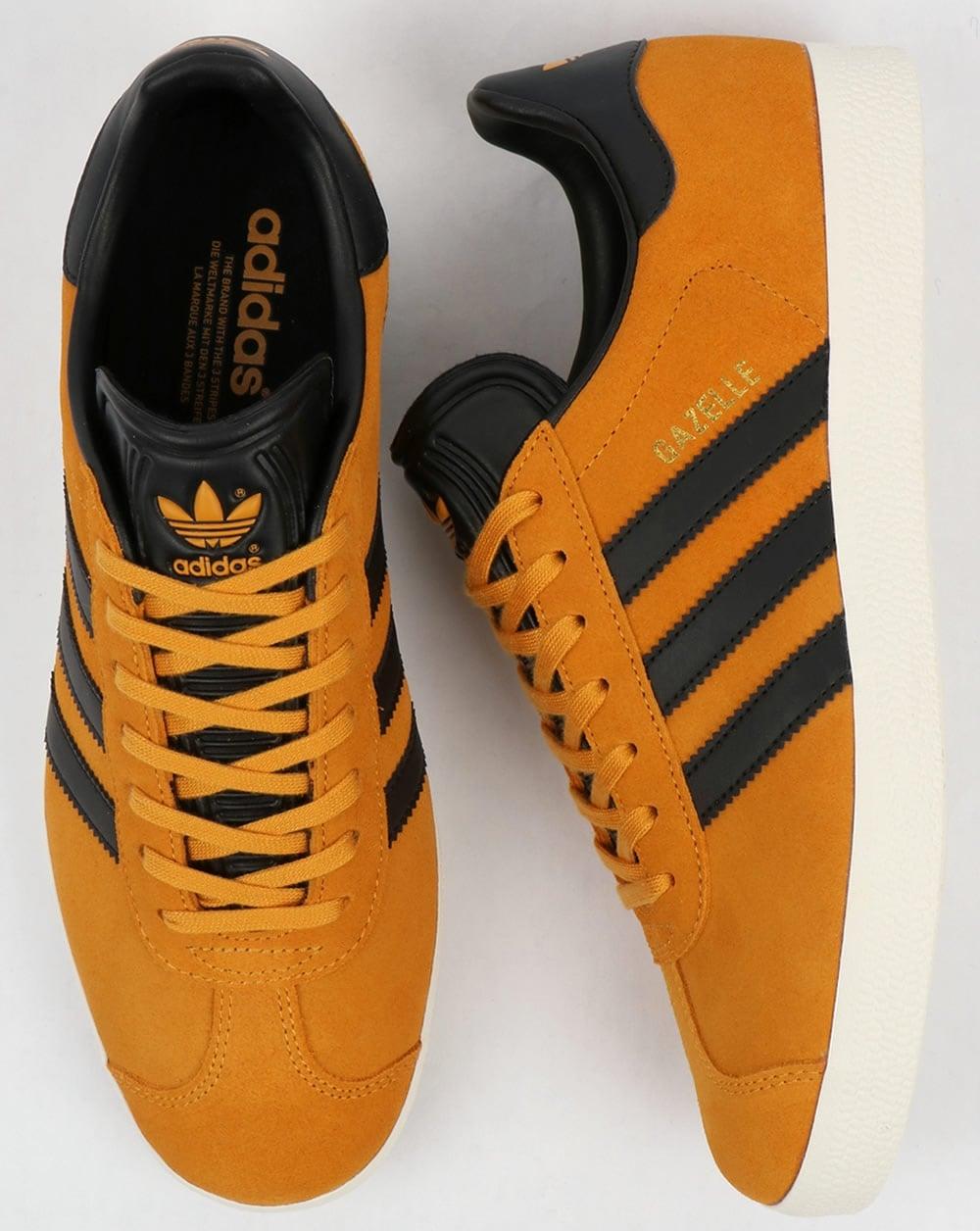 d5b3ac3ddfb Adidas Gazelle Trainers Jamaica Yellow Black