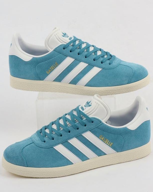 Adidas Gazelle Trainers Light Blue/White