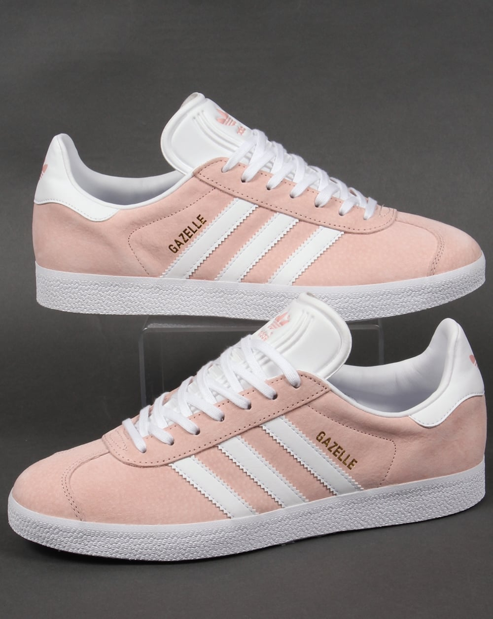 Adidas Gazelle Trainers Light PinkWhite