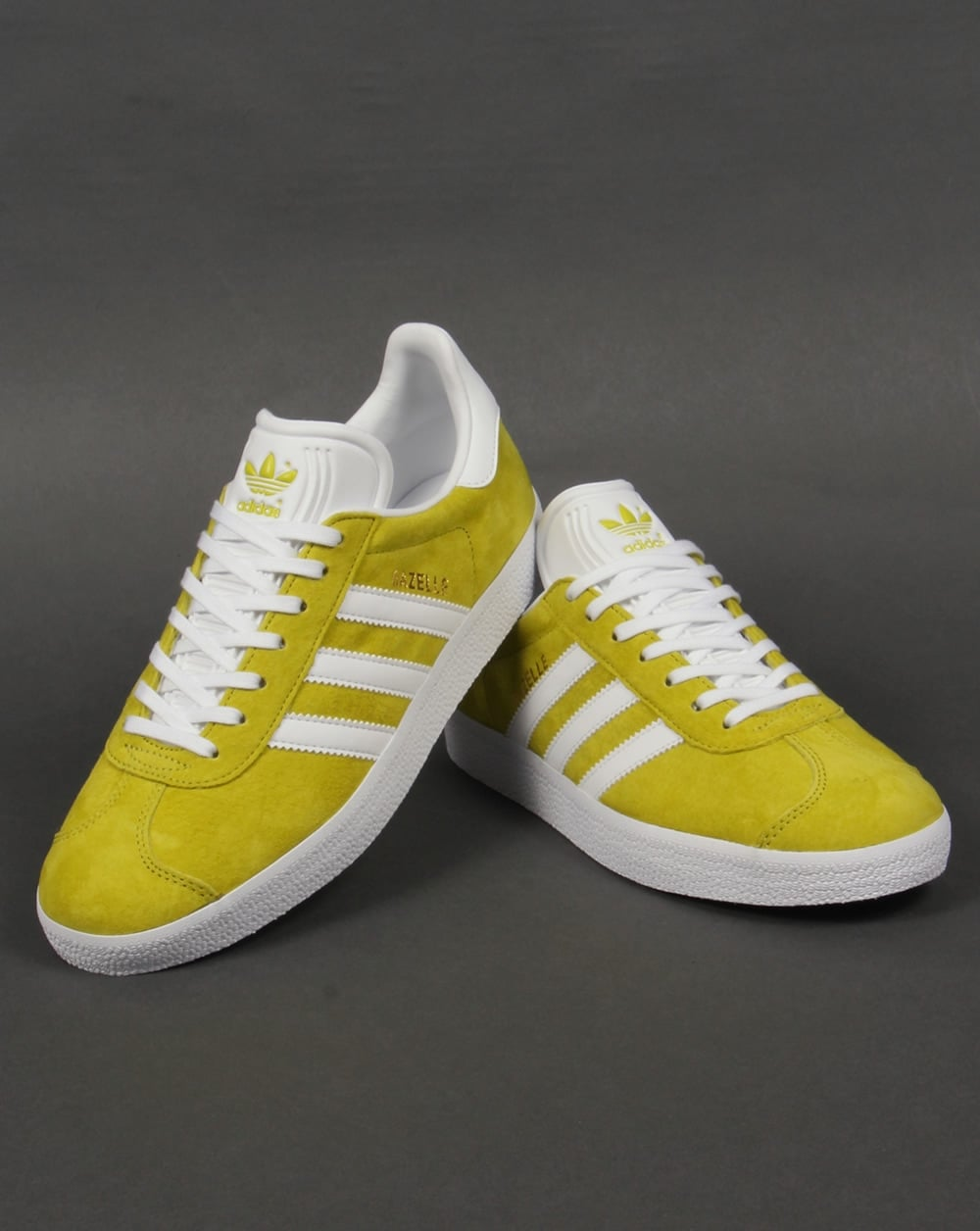 Adidas Trainers Adidas Gazelle Trainers Lime GreenWhite