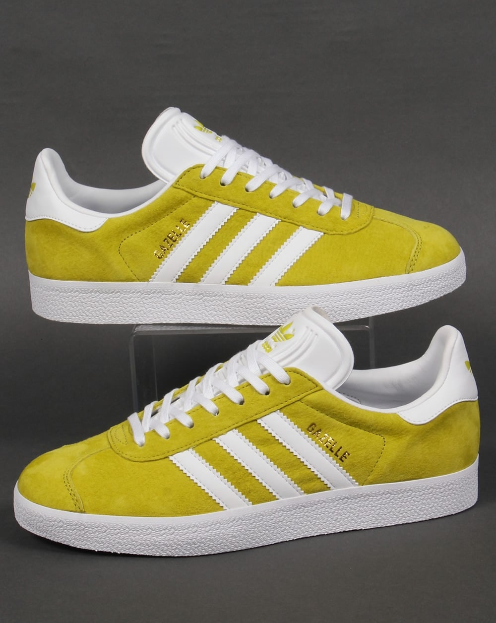 cd88068c256f adidas Trainers Adidas Gazelle Trainers Lime Green White