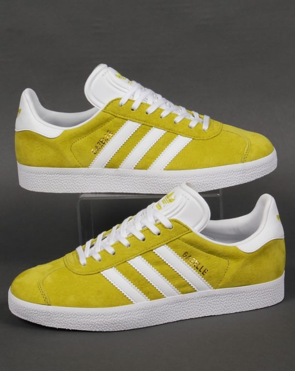 Adidas Gazelle Trainers Lime Green/White
