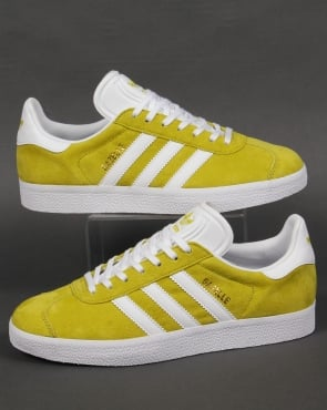 Adidas Trainers Adidas Gazelle Trainers Lime Green/White