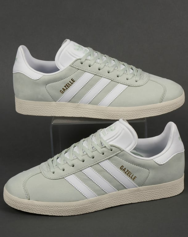 Adidas Gazelle Trainers Linen Green/White
