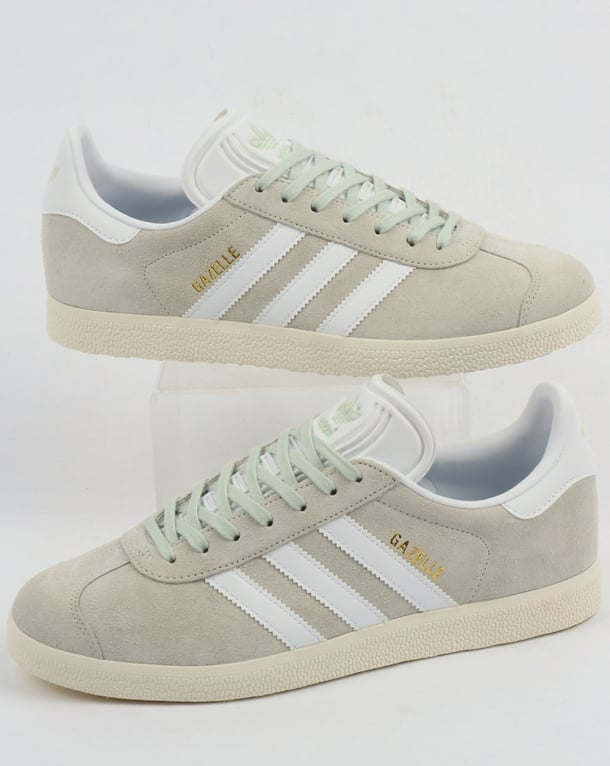 adidas Originals GAZELLE - Trainers - raw green/footwear white/linen t5TPQYkq