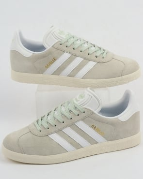 adidas Trainers Adidas Gazelle Trainers Linen Green/White