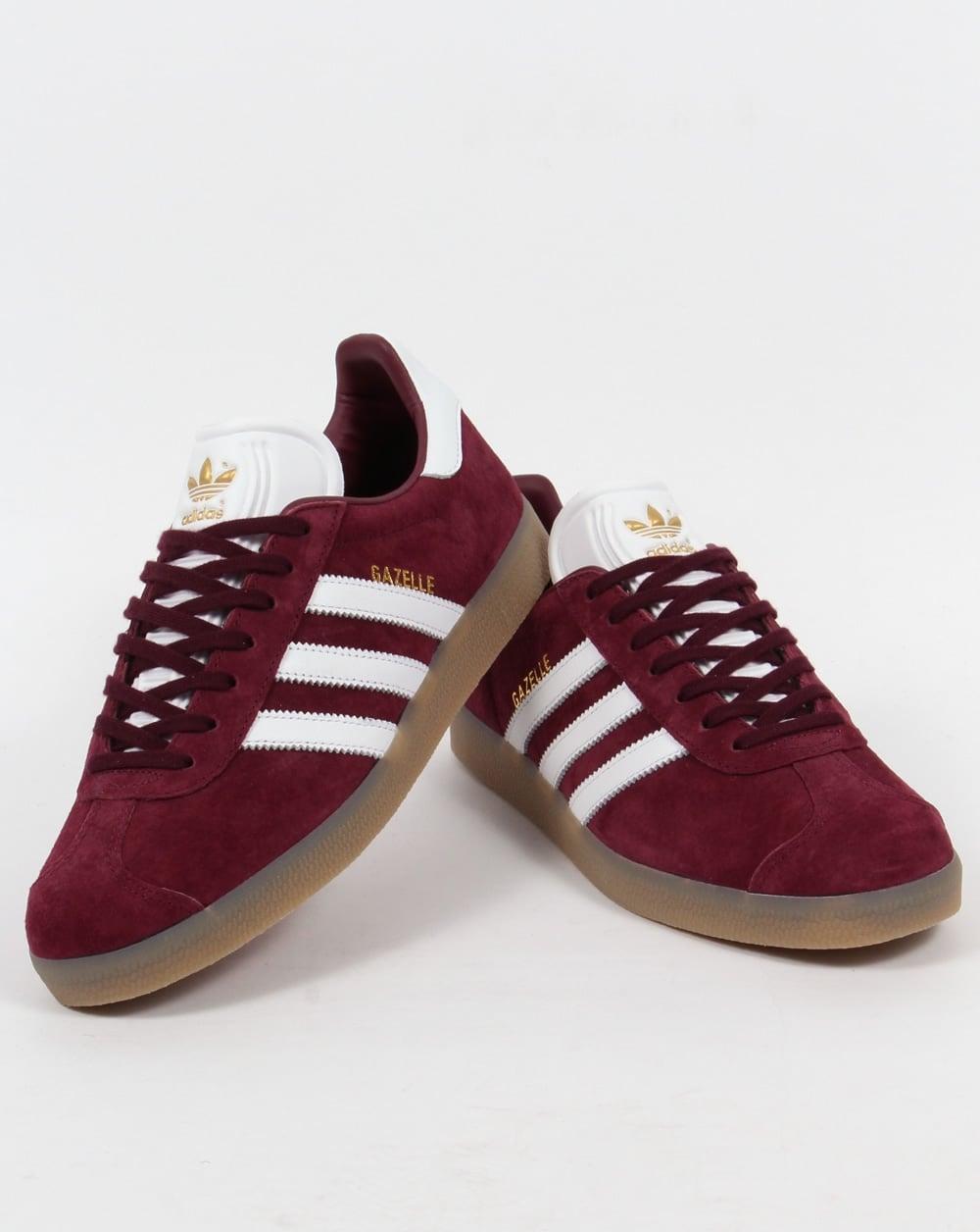 adidas gazelle maroon gum