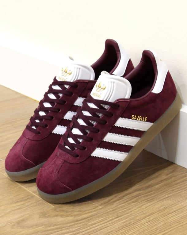Adidas Trainers Adidas Gazelle Trainers Maroon/White/Gum