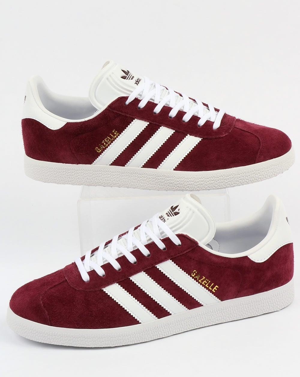 calentar Malabares alto  Adidas Gazelle Trainers Maroon/White,originals,shoes,mens,burgundy