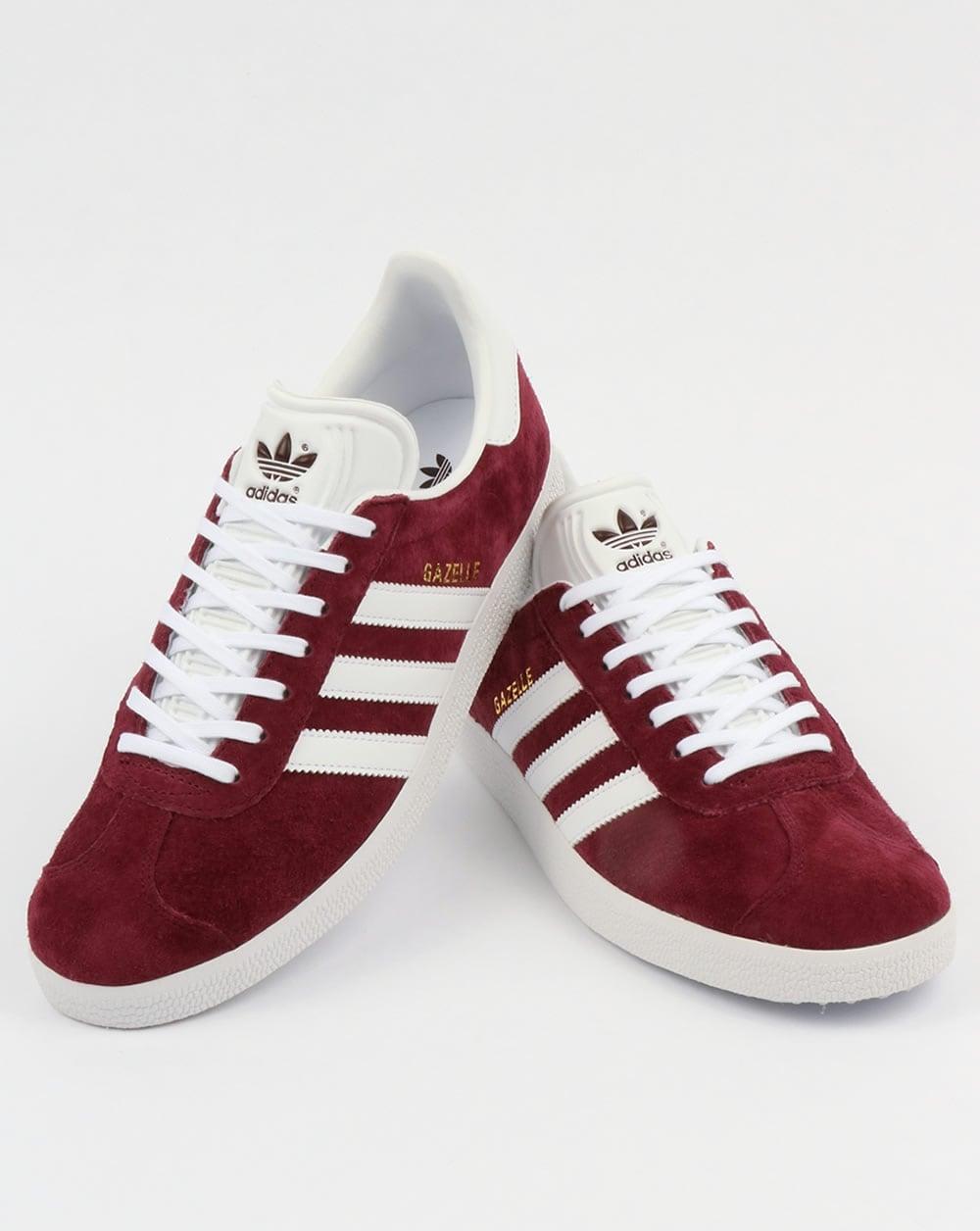 burgundy adidas trainers mens