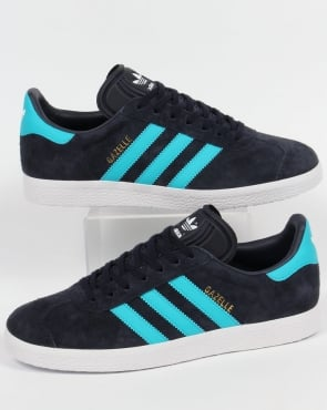 Adidas Gazelle Trainers Navy Blue/Bright Blue