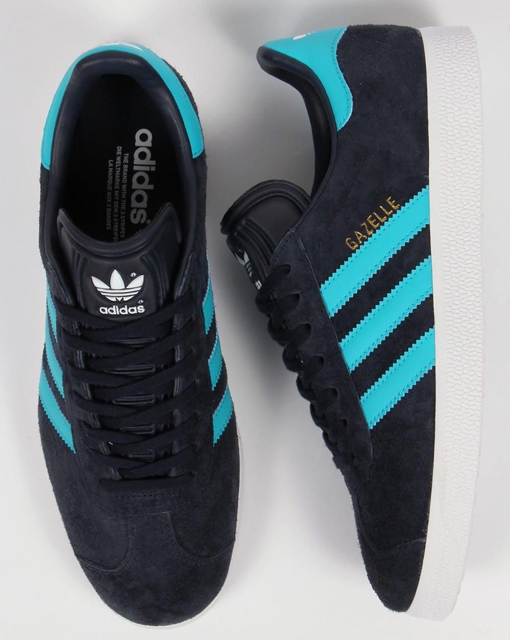light blue adidas gazelle trainers