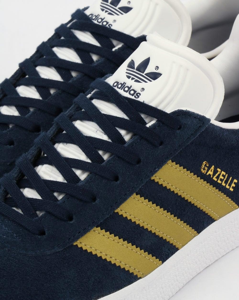 adidas gazelle trainers navy blue