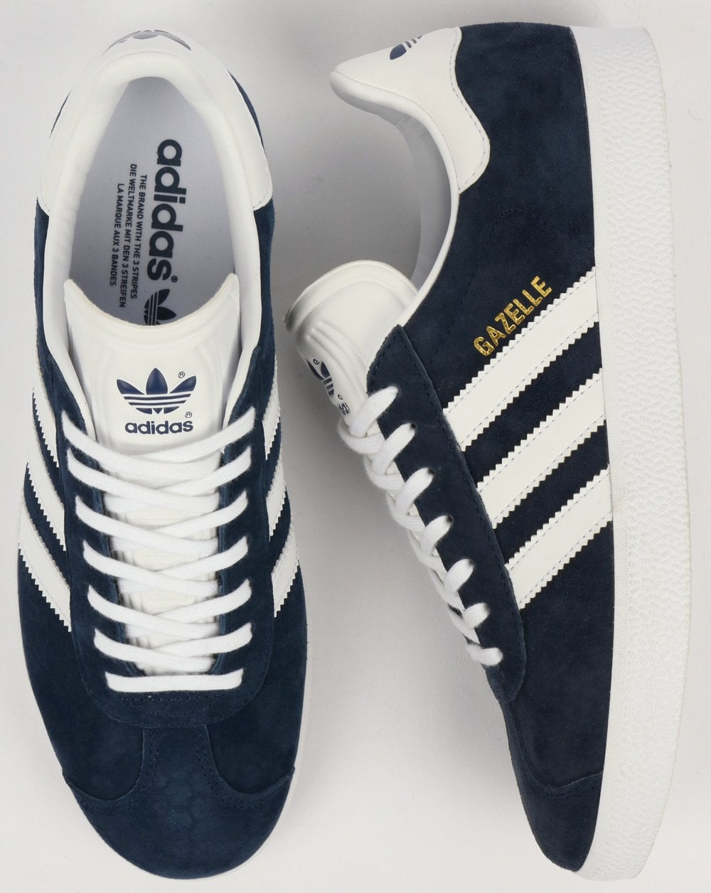 free shipping 6af3f eeeef adidas Trainers Adidas Gazelle Trainers Navy White