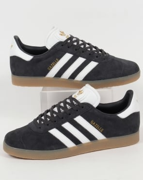 Adidas Gazelle Trainers Night Grey/White/Gum
