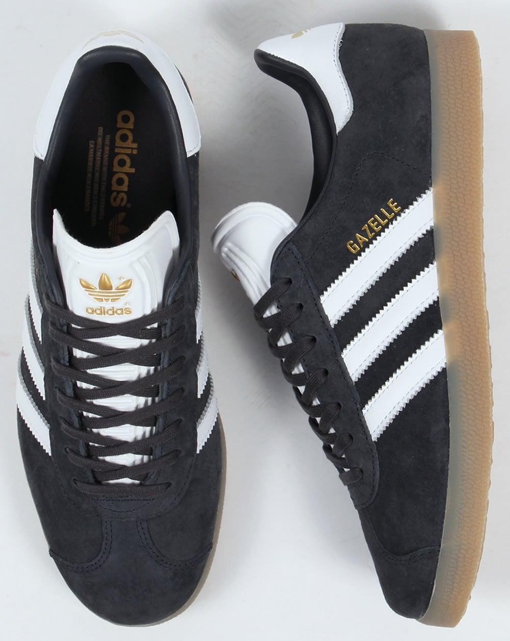 promo code ed147 0300e Adidas Gazelle Trainers Night GreyWhiteGum