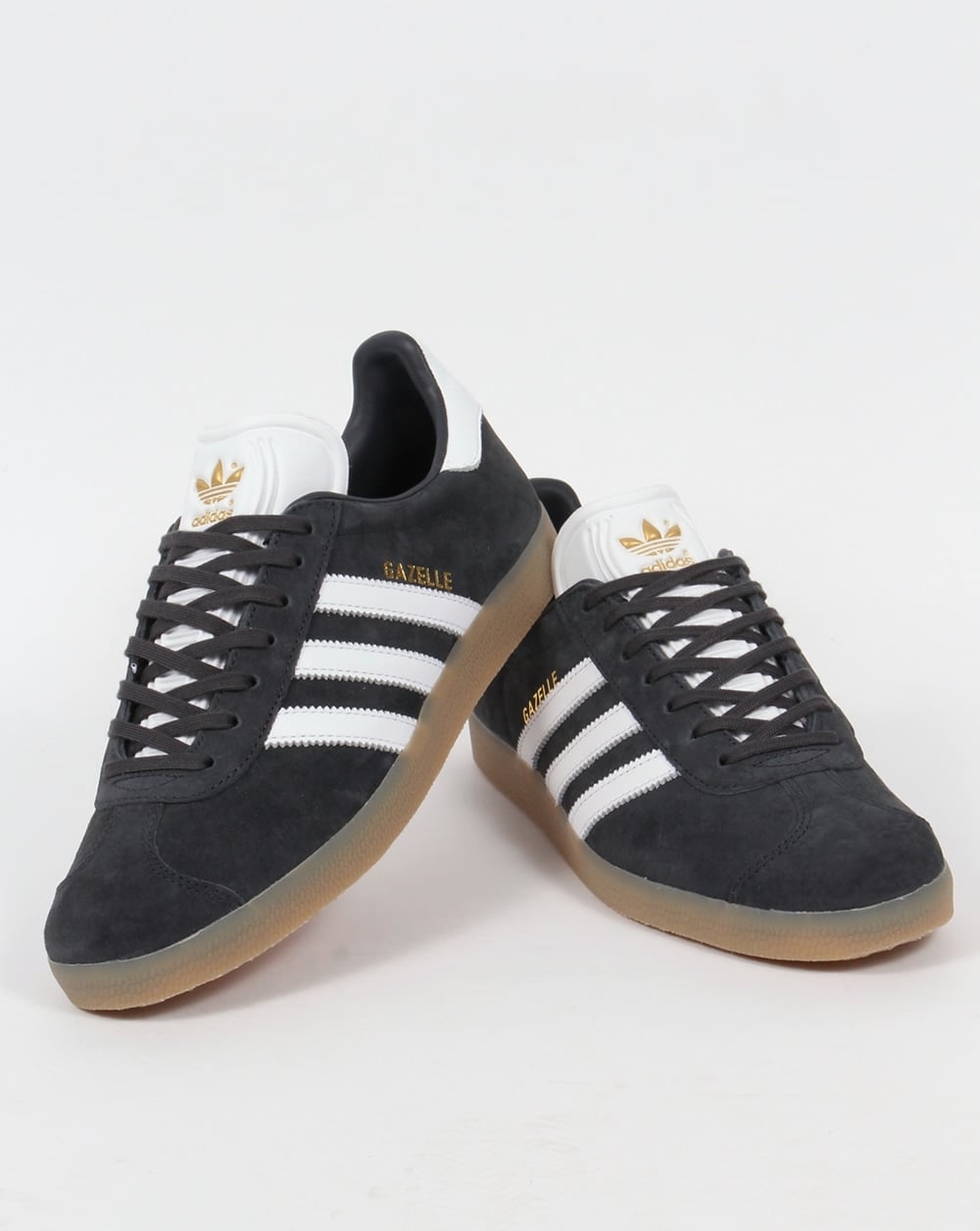 sale retailer c8789 bcaa8 Adidas Gazelle Trainers Night Grey White Gum