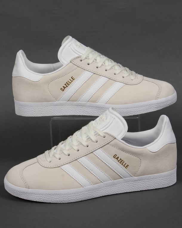 adidas gazelle off white trainers