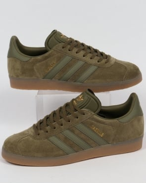 adidas Trainers Adidas Gazelle Trainers Olive/Gum