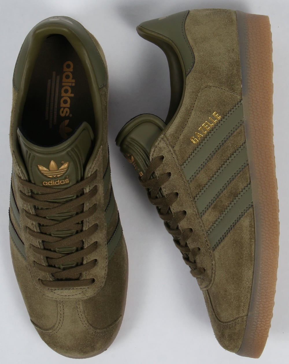 new arrival a4c80 67bed Adidas Gazelle Trainers OliveGum