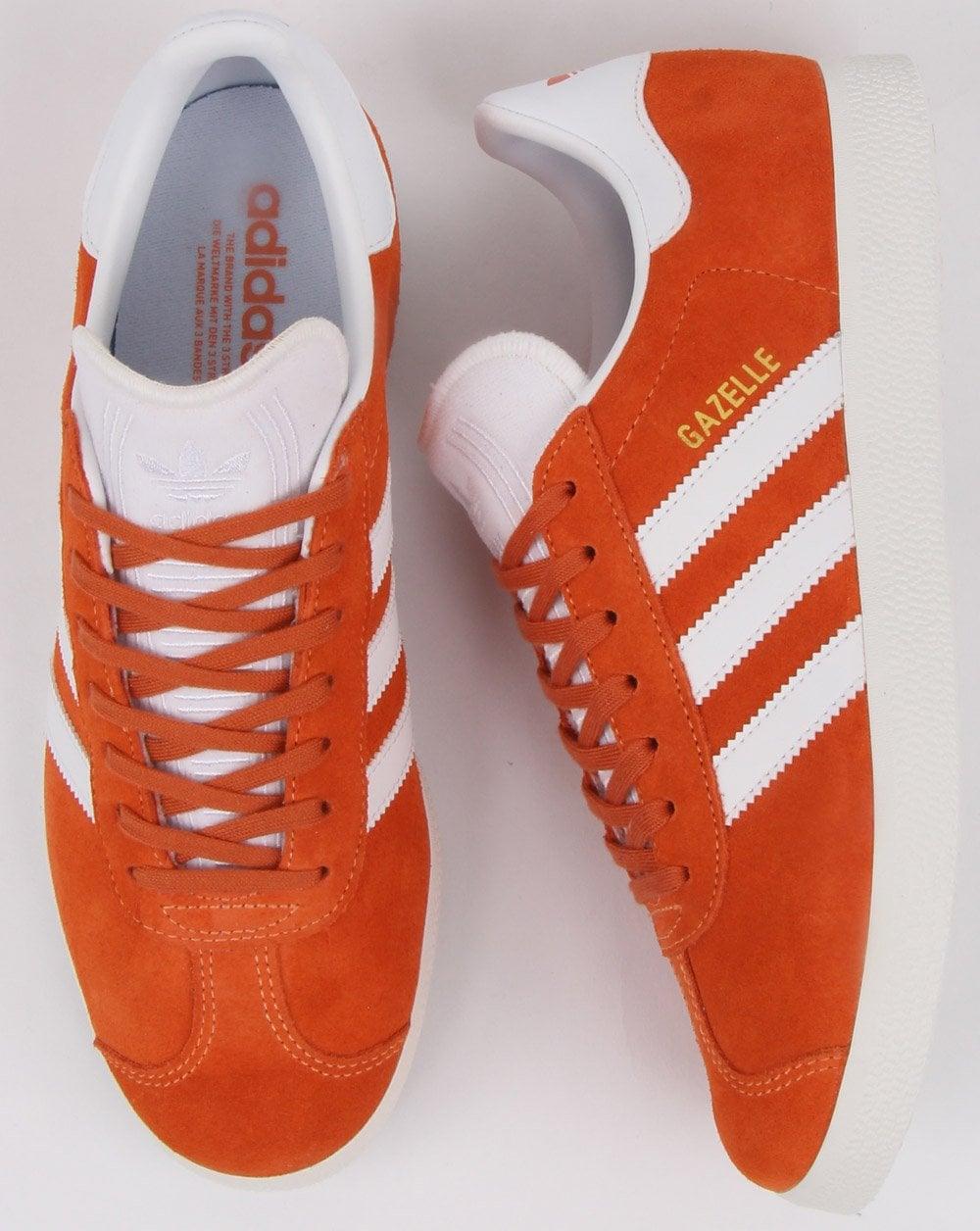 competitive price f6ecb 40e10 adidas Trainers Adidas Gazelle Trainers Orange white