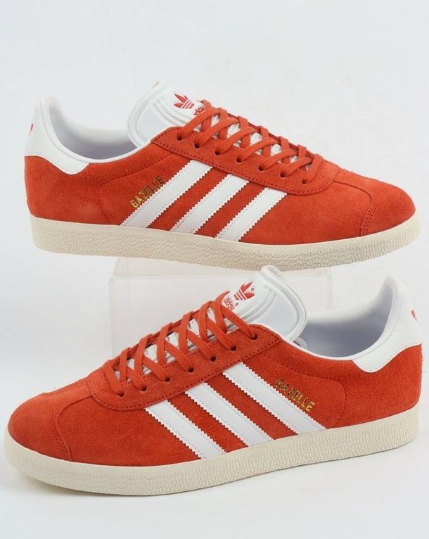 Adidas Gazelle Trainers Orange/White