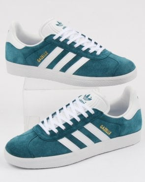 adidas Trainers Adidas Gazelle Trainers Petrol Blue/white