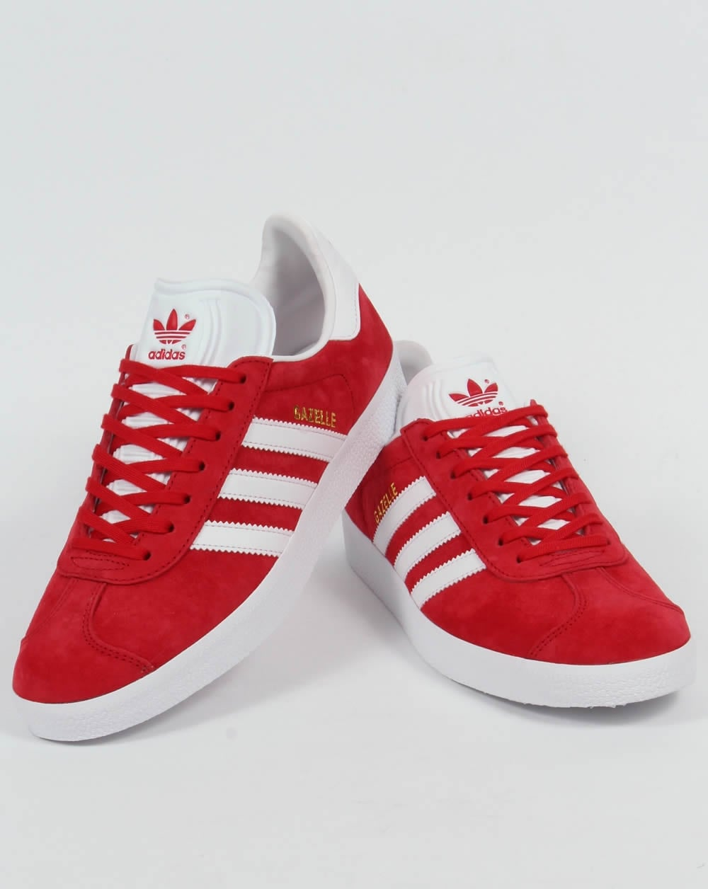 Adidas Gazelle Trainers Power Red White 659bf845f